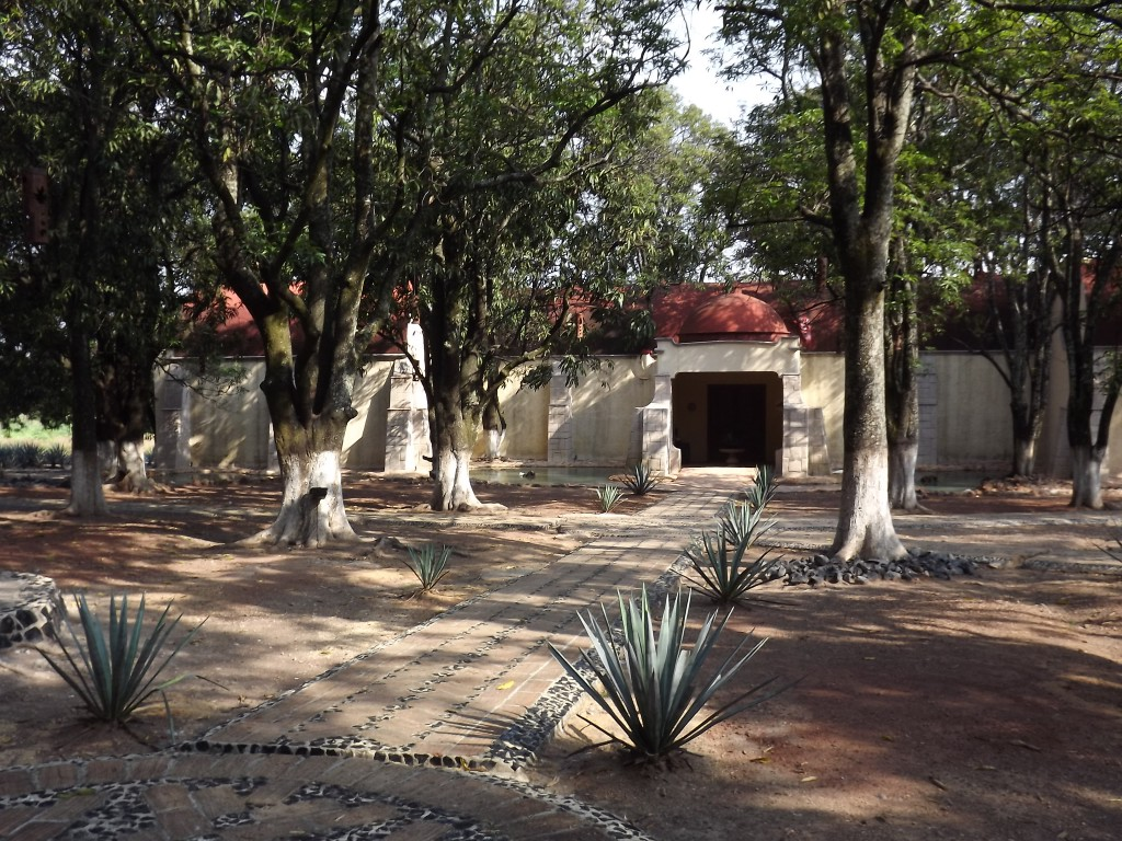The historic barrel aging house at the center of Cofradias